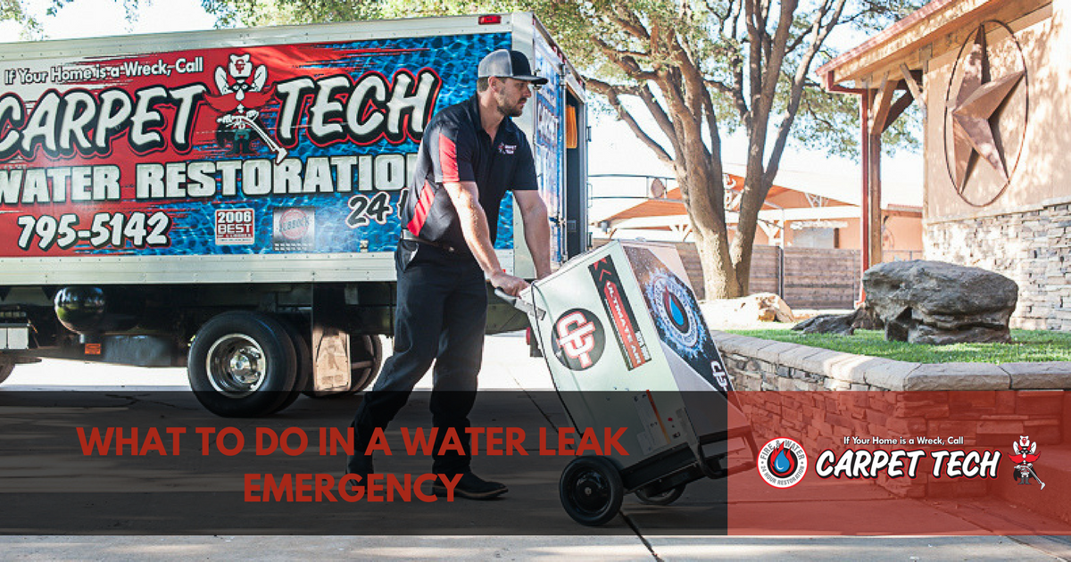 What To Do In A Water Leak Emergency