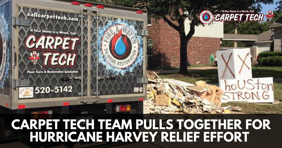 Carpet Tech Team Pulls Together For Hurricane Harvey Relief Effort