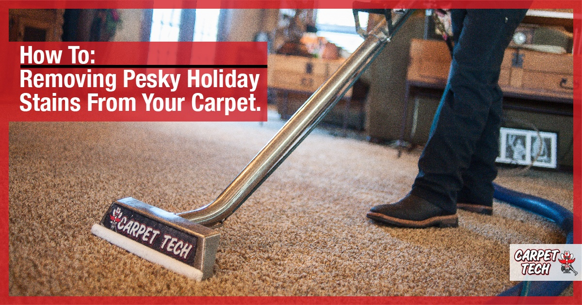 Removing Pesky Holiday Stains from Your Carpet