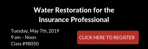 Water Restoration for the Insurance Professional