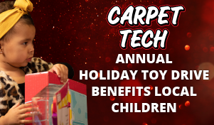 Carpet Tech Annual Holiday Toy Drive Benefits LOCAL CHILDREN