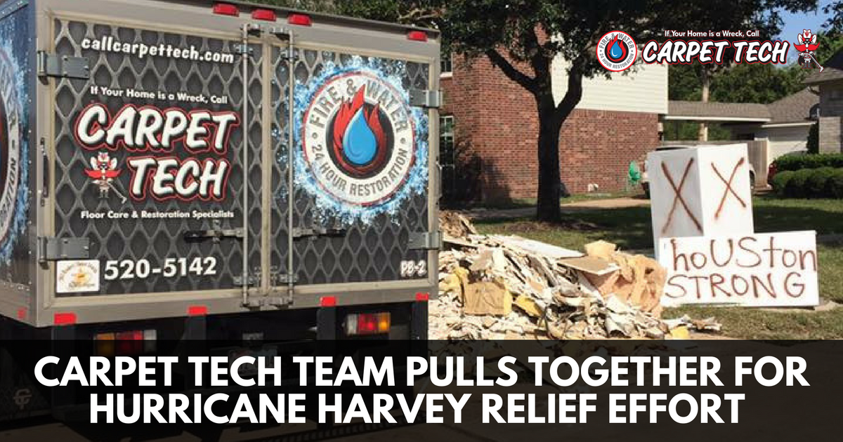 Carpet Tech Team Pulls Together for Hurricane Harvey Relief Effort
